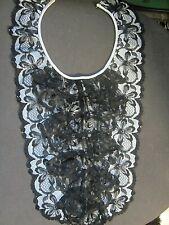 zauberhafter vintage kragen spitzenkragen einsatz schwarz neu gothic tauglich
