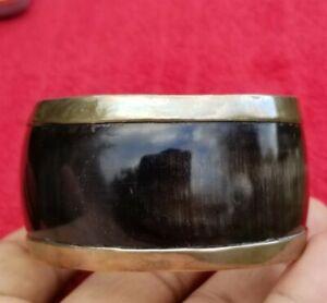 Vintage sterling silver 950 heavy wide bangle bracelet