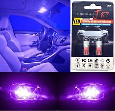 LED 5050 Light Purple 12000K 194 Two Bulb License Plate Replace OE Color SMD JDM