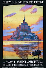 Affiche chemin de fer Etat - Mont Saint-Michel 2