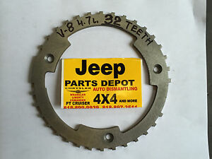 JEEP DODGE  4.7 L. RELUCTOR RING 32 TEETH TONE WHEEL CRANK SHAFT 8 CYLINDER