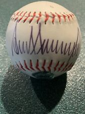 Rare President Donald Trump Autographed Hand Signed Baseball W/Coa