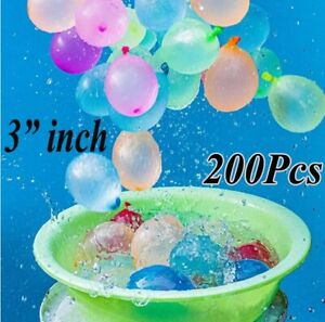 "200Pcs Balloons 3"" inch Small Latex Best Air, Water Balloon Party Fun Childrens"
