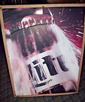 "30"" x 24"" Vintage MILLER LITE Metal Tin ""REFRESHING OPENING BEER BOTTLE"" Sign"