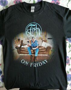 FISH 'Fish On Friday' T Shirt Official Black Gildan Medium Size Marillion