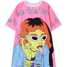 Benedici questo pasticcio FUMARE Girl T-Shirt Kawaii Harajuku FASHION Goth-LS0050