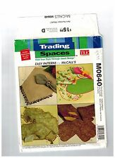 McCall's M0640 Trading Spaces Table Tops Runner Place Mats Uncut Factory Folded