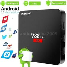 V88 Mini UHD 4K Smart Android 6.0 TV Box RK3229 Quad Core HEVC WIFI Media Player