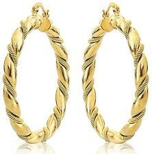 b27e5d86d2af9 yellow gold hoop earrings products for sale | eBay