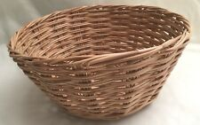 Small Round Rattan WICKER Basket Bread Fruit Cloth Display # Honey Brown