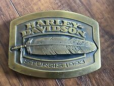 Harley Davidson Sturgis Belt Buckle 1993 335/3,000 Brass