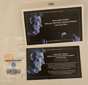 2019 w west point lincoln Shield penny OGP Uncirculated From US Mint Only