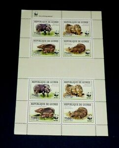 TOPICAL, ANIMALS, GUINEA, 2009, WILDLIFE, WWF, SHEET/8, MNH, LOT #130, NICE LQQK