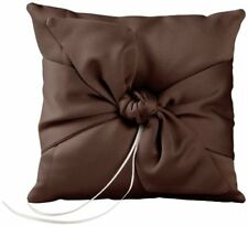 Ivy Lane Design Love Knot Ring Pillow, Color Chocolate Brand New Free Shipping