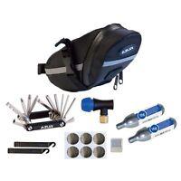 Azur Essential K2 Bike Saddle Bag Co2 Puncture Repair Multi Tool Combo Set
