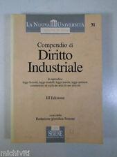 H543 COMPENDIO DI DIRITTO INDUSTRIALE 3 EDIZIONE ESSELIBRI SIMONE 2002
