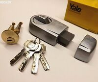 YALE FRONT DOOR LOCK DEADBOLT NIGHTLATCH  RIM CYLINDER LATCH NEW