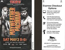 Manny Pacquiao  Floyd Mayweather  MGM Grand Room Card Key May 2, 2015