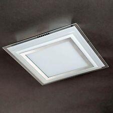 WOFI Plafonnier LED Nancy CHROME 1-FLG verre 28 cm Lampe 17,5 Watt 1550 Lumen