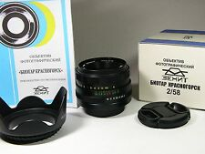Biotar-Krasnogorsk T* 2/58mm, 8 blades, M42-mount or other SLR/DSLR Brand new