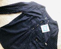 Gap XS pullover tunic shirt top navy blue white dots NWOT boho - Sanibel Thrift