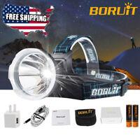 BORUiT XM-L2 LED Rechargeable Headlamp Hunting Headlight 18650 Torch Lamp Light