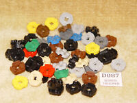 LEGO Parts: 4032 Plate, Round 2 x 2 with Axle Hole ASSORTED x 54 PIECE