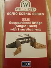 Peco WILLS KITS OO/HO SS28 OCCUPARIONAL BRIDGE SINGLE TRACK
