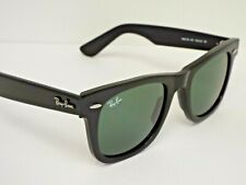 Authentic Ray-Ban RB 2140 901 Black Green Classic Wayfarer Sunglasses $190**