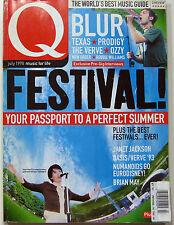 Q Magazine July 1998 Festivals Guide Blur Coltrane Nick Cave Shania Twain