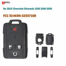 Remote Car Key Shell Case Fob 4BTN for 2015 Chevrolet Silverado 1500 2500 3500