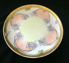 VintageHand Painted Haviland Limoges Dessert Plate with Violets and Gold Accents