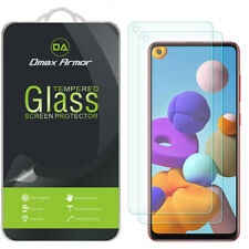 2-Pack Dmax Armor Tempered Glass Screen Protector for Samsung Galaxy A21s