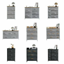 Fabric Chest of Drawers Cabinet Storage Unit Bedside Table with 2/3/4/5Drawers