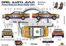 [FFSMC Productions]  Decals 1/43 Opel Mantal 400 n°5 Tudor Webasto Manx Rally 85
