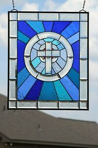 """""""All about HIM"""" Beveled Stained Glass Window Panel ≈ 23.5X19.5"""