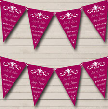 RegalFig Personalized Engagement Party Bunting Flag Banner