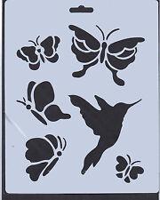 Plastica / PVC / Patinata / CARTA / Stencil / Multi / Farfalla / Farfalle / BIRD / NUOVO