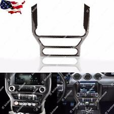 Carbon Fiber Multi-media Console Decor Interior Trim For Ford Mustang 2015- 2018