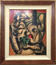"Yuroz ""Bouquet of Love"" Framed Original Oil Painting, 34"" x 40"" Framed"