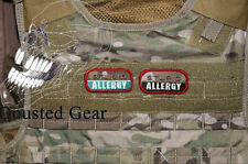 "2 x Multicam MTP "" STUPID ALLERGY "" Morale Patch ( Official Dousted Gear"