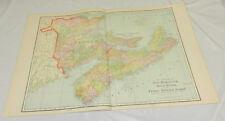 1904 Cram COLOR Map/NEW BRUNSWICK, NOVA SCOTIA, PRINCE EDWARD ISLAND/Large 14x22