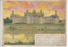 Document vieux papier chocolat Delespaul château de Chambord