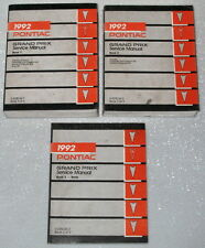 1992 Pontiac Grand Prix Factory Service Manual 3 Volume Set Original Shop Repair