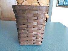 Longaberger Medium Spoon Apothecary Basket with protector Vintage stain NEW