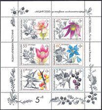 Bulgaria 1991 Medicinal Plants/Flowers/Edible Fruits/Nature 6v sht (s2507)