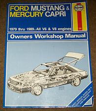 Haynes Manual for Ford Mustang and Mercury Capri 79-89