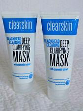 AVON CLEARSKIN ~ BLACKHEAD CLEARING, DEEP CLARIFYING ~ FACE MASKS ~  2 x 75ml