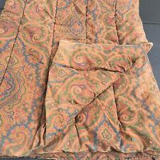 Twin Sized Brown Paisley Comforter Ralph Lauren 100% Cotton