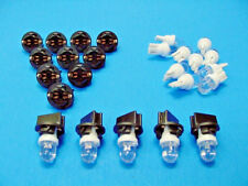 "15 White Dome LEDs Lights Bulbs 1/2"" Sockets Instrument Panel Dashboard Ford"